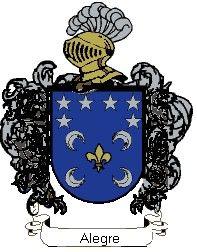 Escudo del apellido Alegre