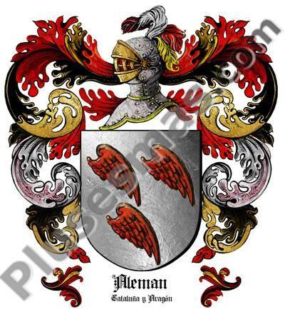 Escudo del apellido Alemán