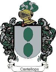 Escudo del apellido Cantellops