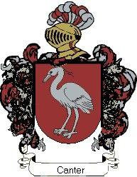Escudo del apellido Canter