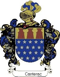 Escudo del apellido Canterac