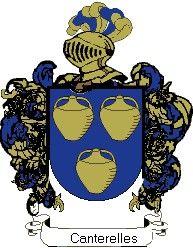 Escudo del apellido Canterelles