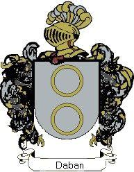 Escudo del apellido Daban