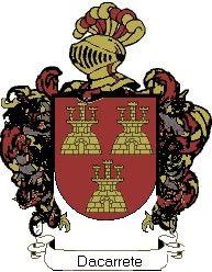 Escudo del apellido Dacarrete