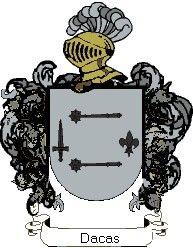 Escudo del apellido Dacas