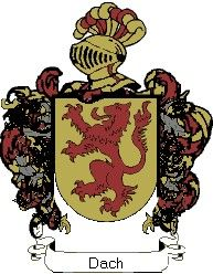 Escudo del apellido Dach