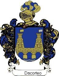 Escudo del apellido Dacorteo