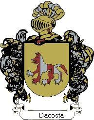 Escudo del apellido Dacosta