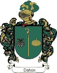 Escudo del apellido Dahon