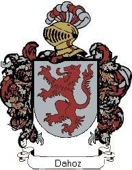 Escudo del apellido Dahoz