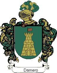 Escudo del apellido Damero