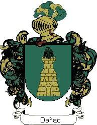Escudo del apellido Dañac