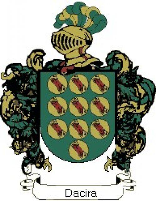 Escudo del apellido Dacira
