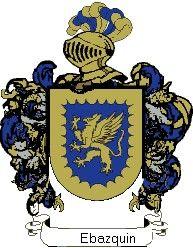 Escudo del apellido Ebazquin