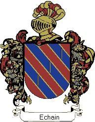 Escudo del apellido Echain