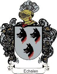 Escudo del apellido Echalen