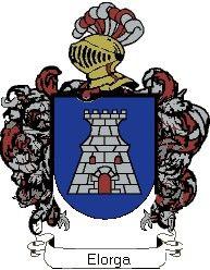 Escudo del apellido Elorga