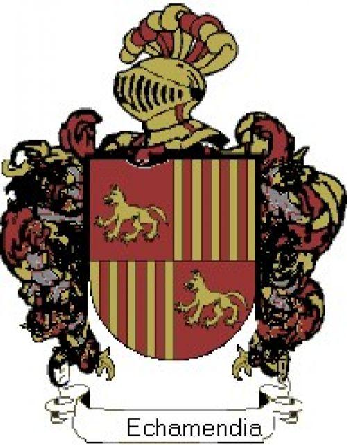Escudo del apellido Echamendia