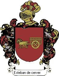 Escudo del apellido Esteban de cervera