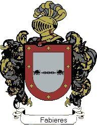 Escudo del apellido Fabieres