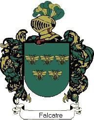 Escudo del apellido Falcatre