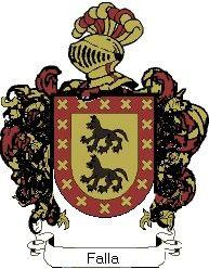 Escudo del apellido Falla