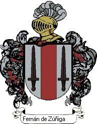 Escudo del apellido Fernán de zúñiga