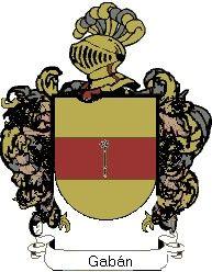 Escudo del apellido Gabán