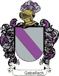 Escudo del apellido Gabañach