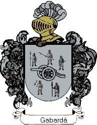 Escudo del apellido Gabardá