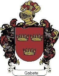 Escudo del apellido Gabete