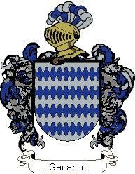 Escudo del apellido Gacantini