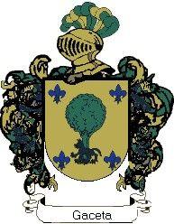 Escudo del apellido Gaceta