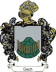 Escudo del apellido Gach