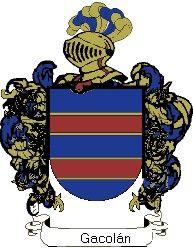 Escudo del apellido Gacolán