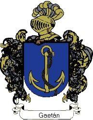 Escudo del apellido Gaetán