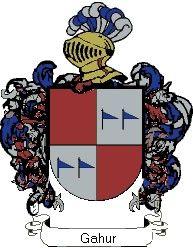 Escudo del apellido Gahur