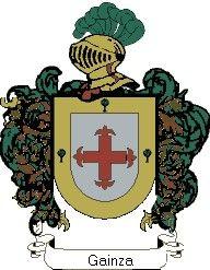 Escudo del apellido Gainza