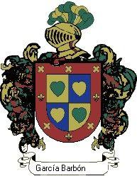 Escudo del apellido García barbón