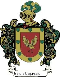 Escudo del apellido García carpintero