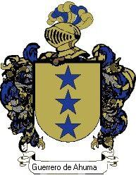 Escudo del apellido Guerrero de ahumada