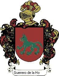 Escudo del apellido Guerrero de la hoz