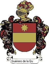 Escudo del apellido Guerrero de la quebrada