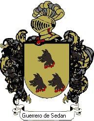 Escudo del apellido Guerrero de sedano