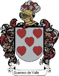 Escudo del apellido Guerrero de valle