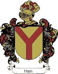 Escudo del apellido Hain