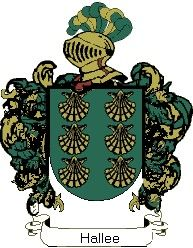 Escudo del apellido Hallee