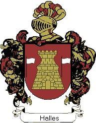 Escudo del apellido Halles