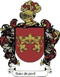 Escudo del apellido Ibars de povil