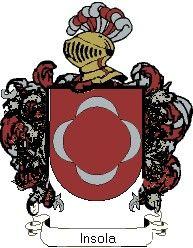 Escudo del apellido Insola